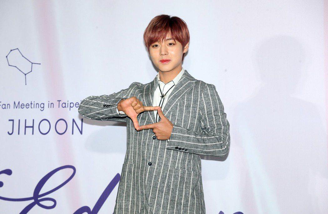 韓國男團Wanna One出身的朴志訓來台舉辦粉絲見面會,出席記者會與媒體見面。