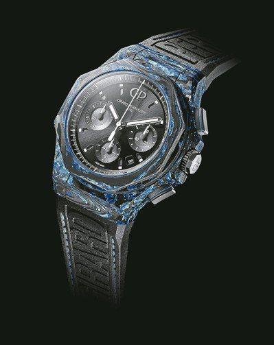 芝柏Laureato桂冠系列Absolute計時碼表,玻璃碳表殼。 圖/各業者提...