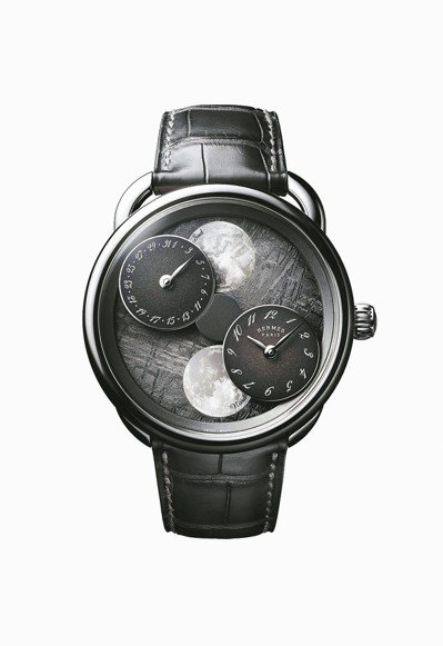 Arceau Lheure de la lune月讀時光腕表,18K白金表殼搭配...