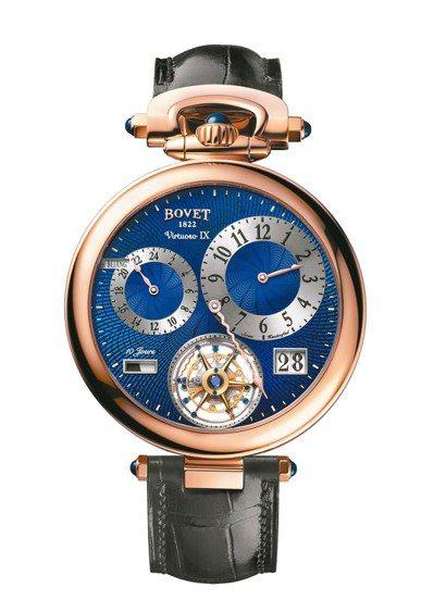 播威Virtuoso IX雙時區大日曆飛行陀飛輪表,18K紅金表殼,約816萬元...