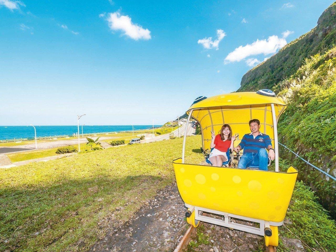 深澳鐵道自行車。 圖/觀旅局提供