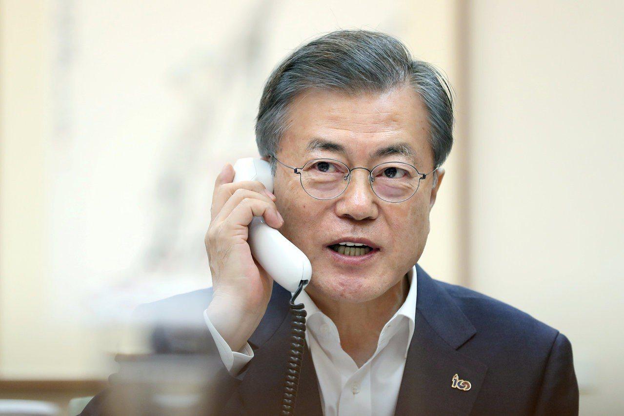 南韓總統文在寅。路透
