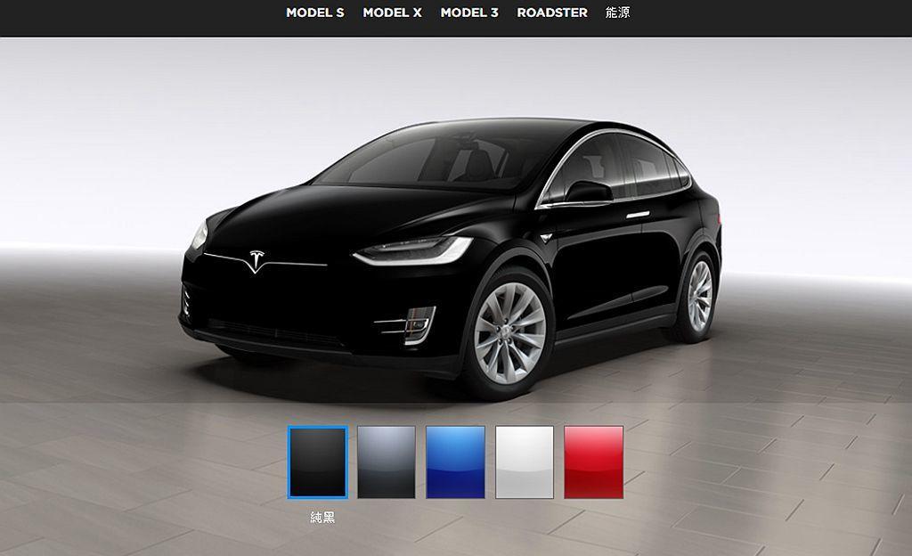 僅有黑色不需加價,其他外觀車型都需要加錢選配。 圖/Tesla網站擷取