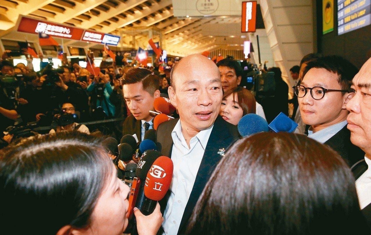 「韓風再起」?高雄市長韓國瑜積極投入立委補選的輔選。 圖/聯合報系資料照片