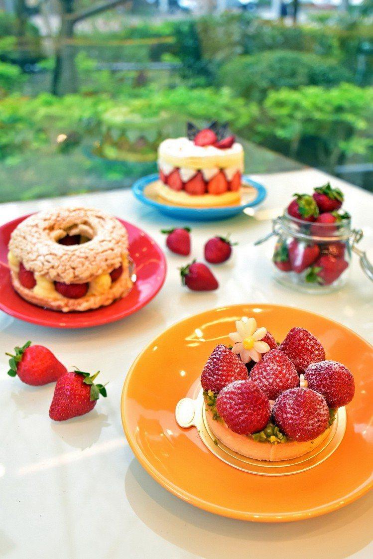 天成大飯店TICC世貿會館Taipei Garden Cafe愛戀繽紛草莓季。圖...