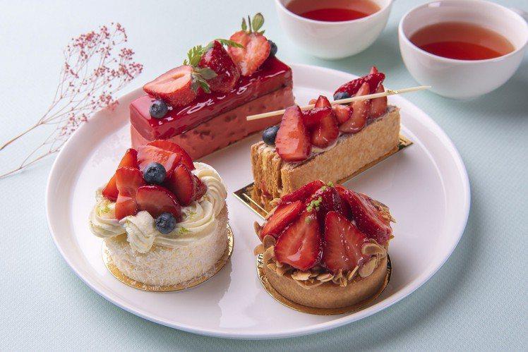 宜蘭力麗威斯汀點心房的草莓甜點。圖/宜蘭力麗威斯汀提供