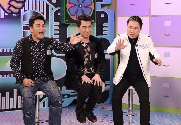 趙正平(右起)、梁赫群和林智賢上節目談的話題都歪樓。圖/狼谷競技提供
