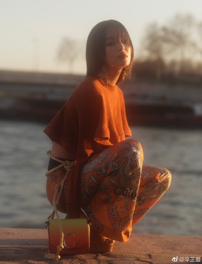 演出《如懿傳》的辛芷蕾獲邀前往巴黎觀賞CHLOÉ大秀。圖/取自微博