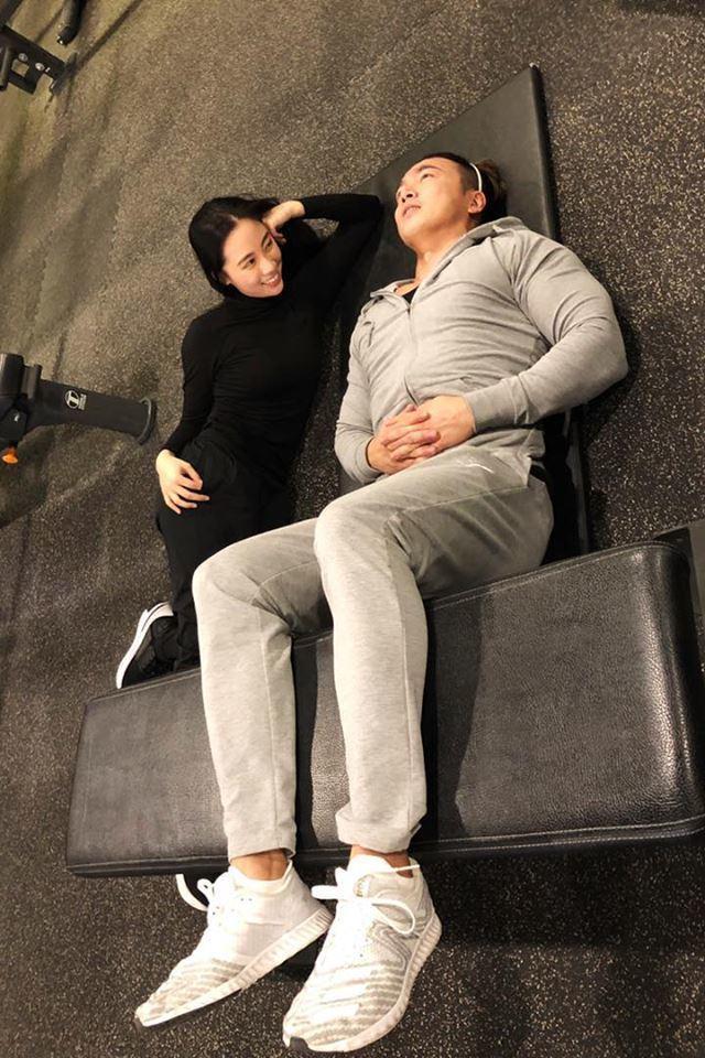 李沛旭近期身邊出現不少異性朋友,圖為和乾妹妹的搞笑照。圖/摘自臉書