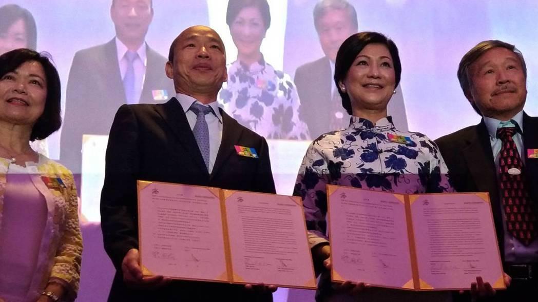 高市長韓國瑜(左二)與吉隆坡農漁產進口及銷售商Euro-atlantic創始人兼...