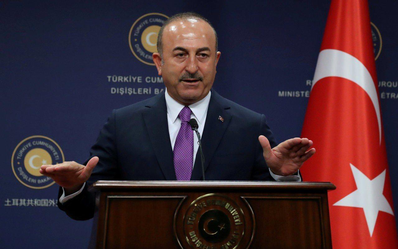 土耳其外交部長卡夫索格魯(Mevlut Cavusoglu)。 路透社