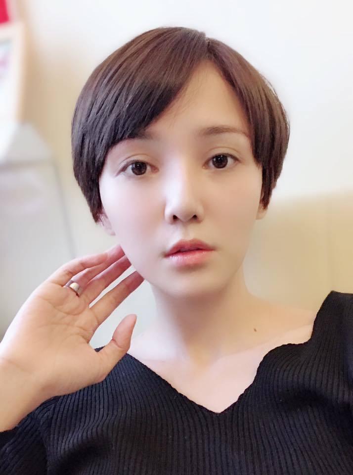 陳子玄短髮曝光。圖/擷自facebook。