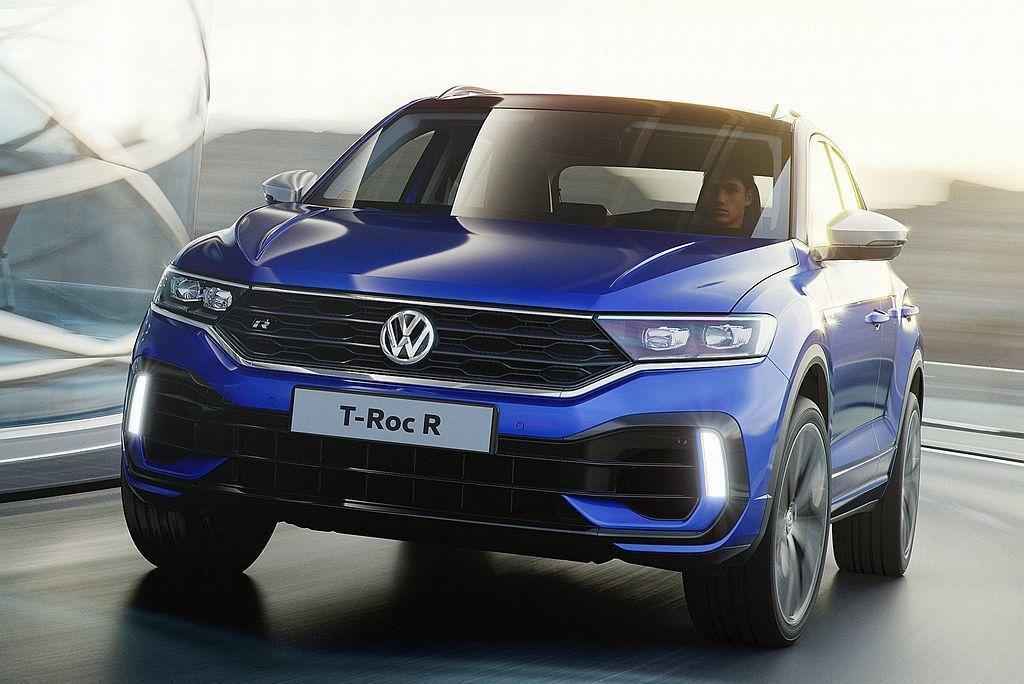 福斯推出性能版都會休旅T-Roc R,具備300ps最大馬力輸出。 圖/Volkswagen提供