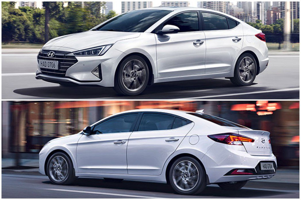 於去年八月底登場的小改款Hyundai Elantra。 摘自Hyundai