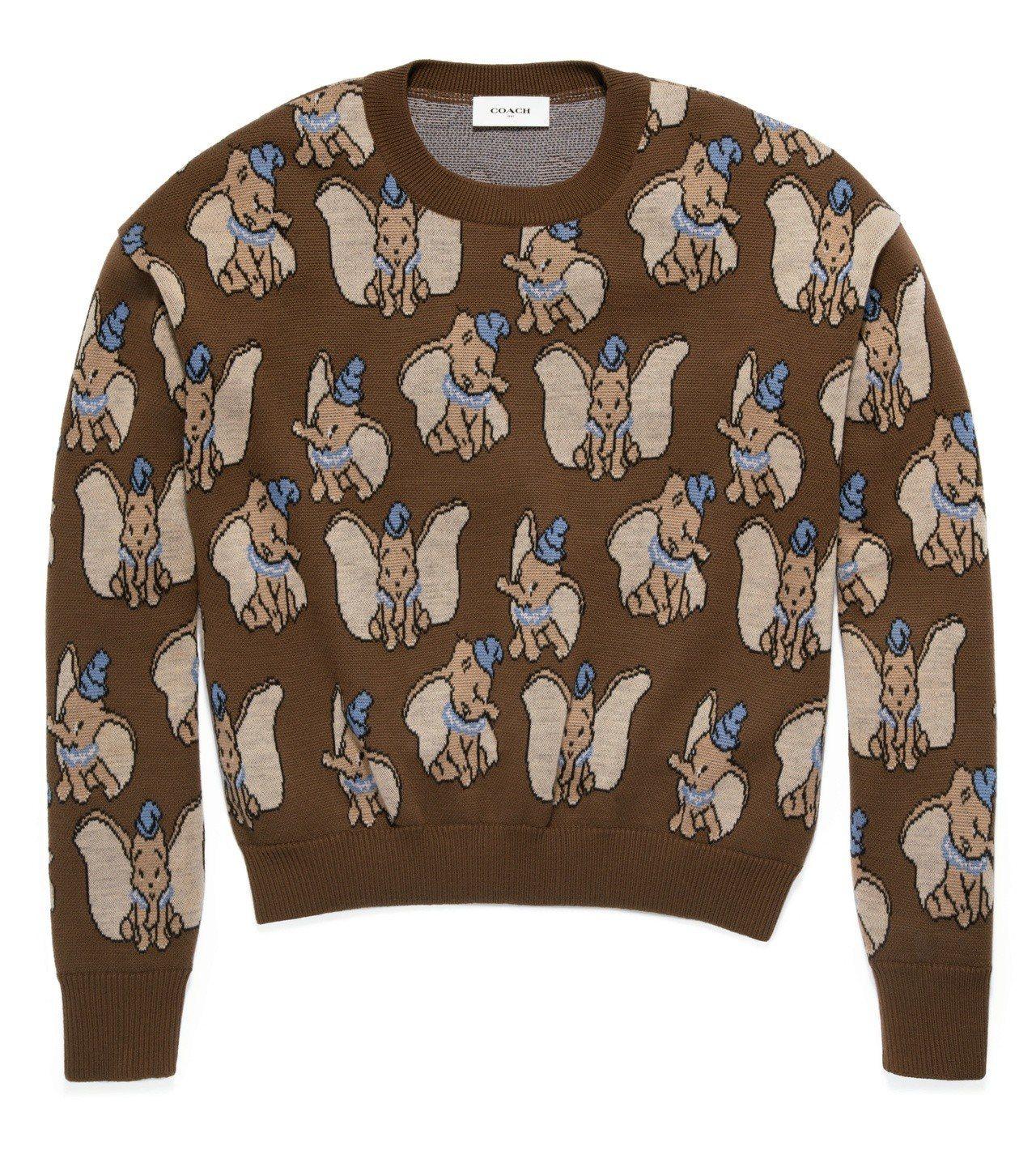 Disney x COACH Dumbo經典緹花毛衣,售價16,800元。圖/C...