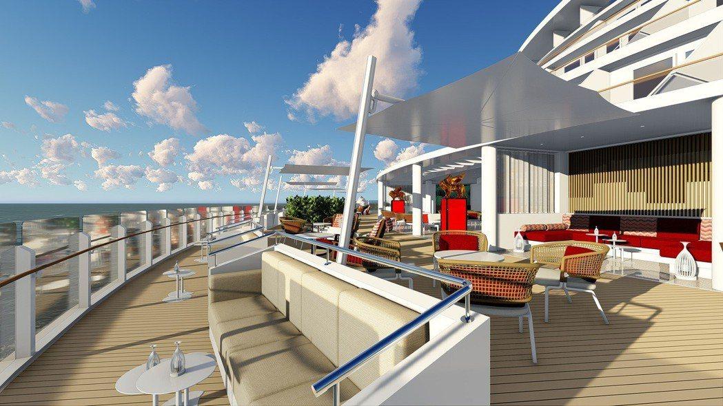 歌詩達郵輪威尼斯號星光酒吧。 圖/業者提供