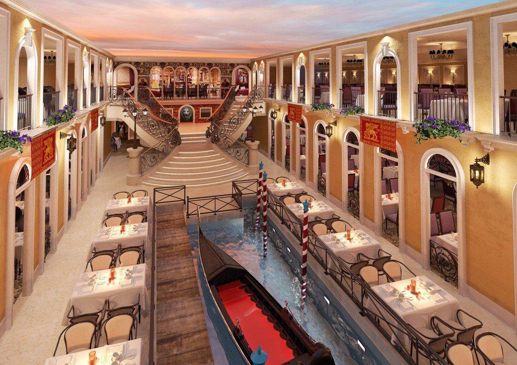 歌詩達郵輪威尼斯號大運河餐廳。 圖/業者提供