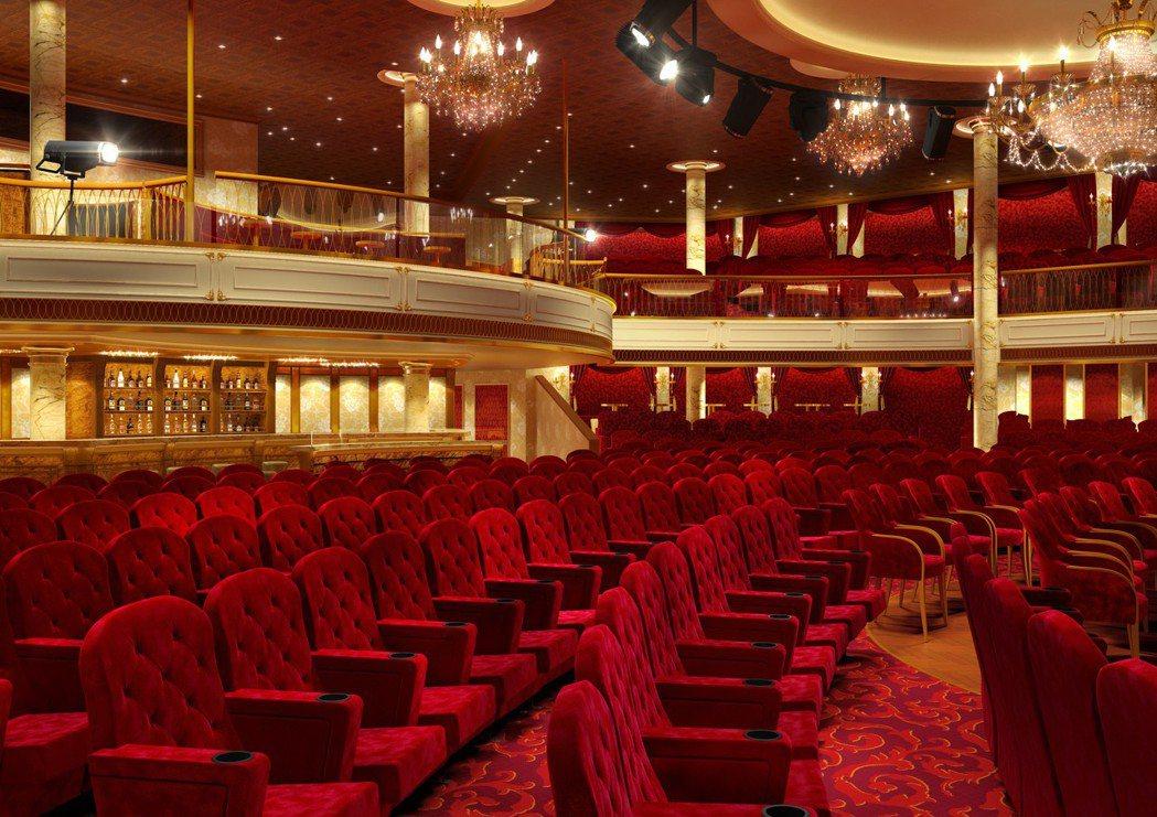歌詩達郵輪威尼斯號鳳凰大劇院。 圖/業者提供