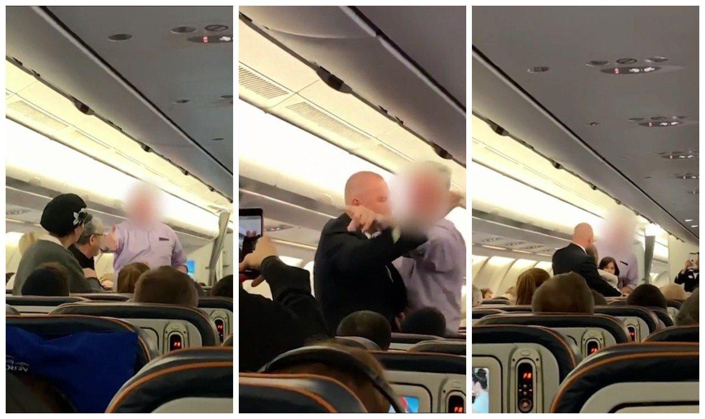 一名乘客2月10日搭機準備從莫斯科飛往紐約時,目睹一名氣勢洶洶的乘客不停要求跟同...