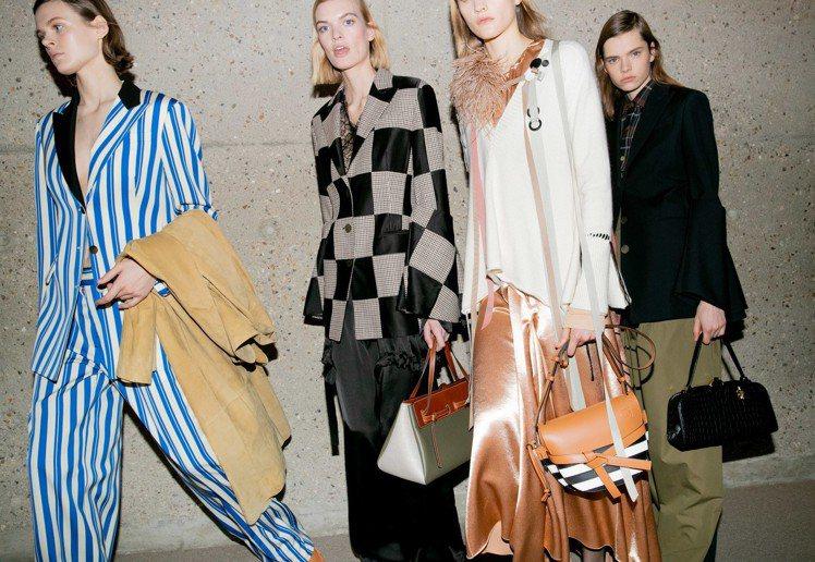LOEWE秋冬設計出色,以精準的剪裁重塑古典元素,打造摩登時尚。圖/LOEWE提...