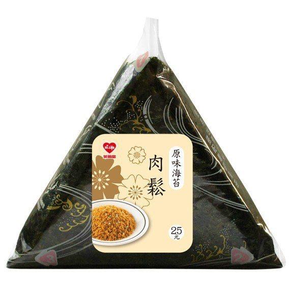 萊爾富熱銷TOP 3:肉鬆三角飯糰,售價25元。圖/萊爾富提供