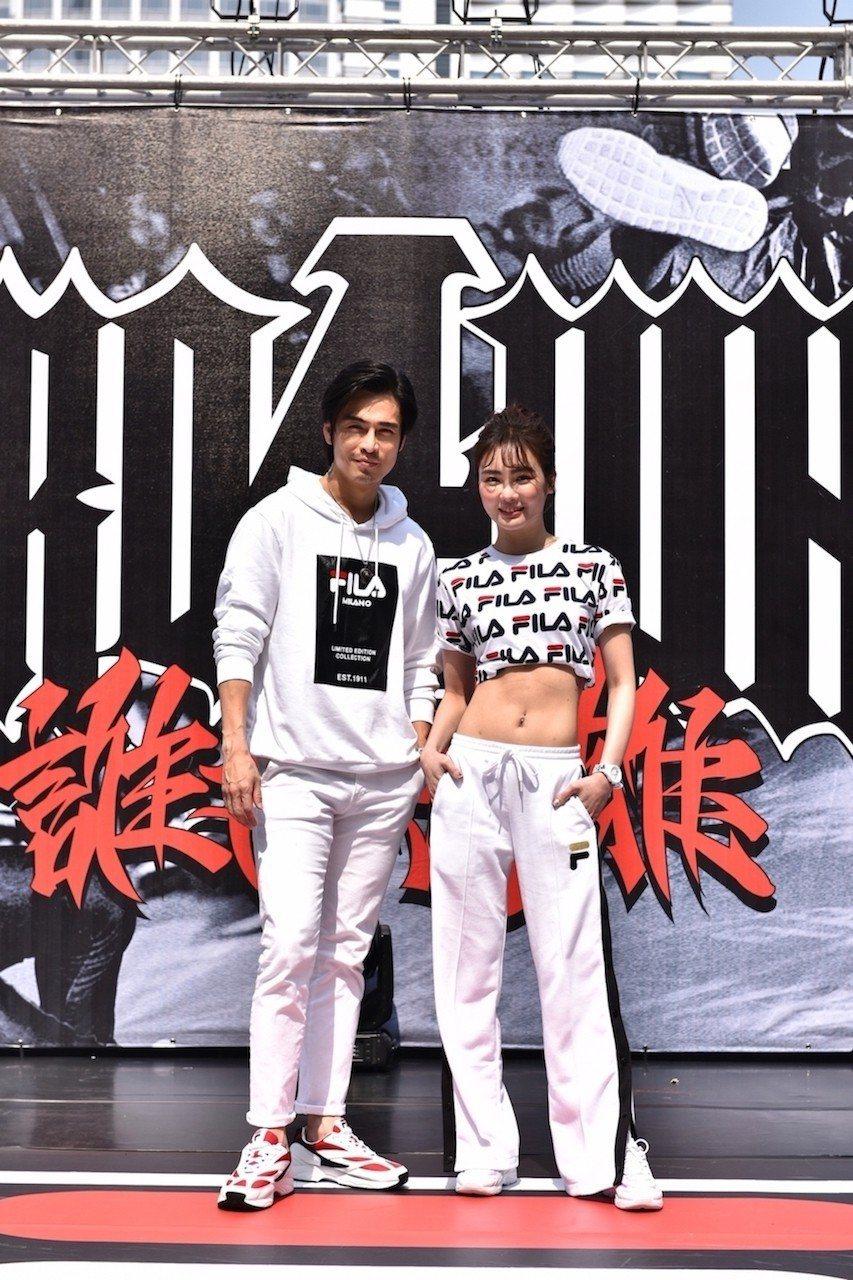 Gino(左)、舒子晨出席國際街舞大賽擔任評審。圖/FILA提供