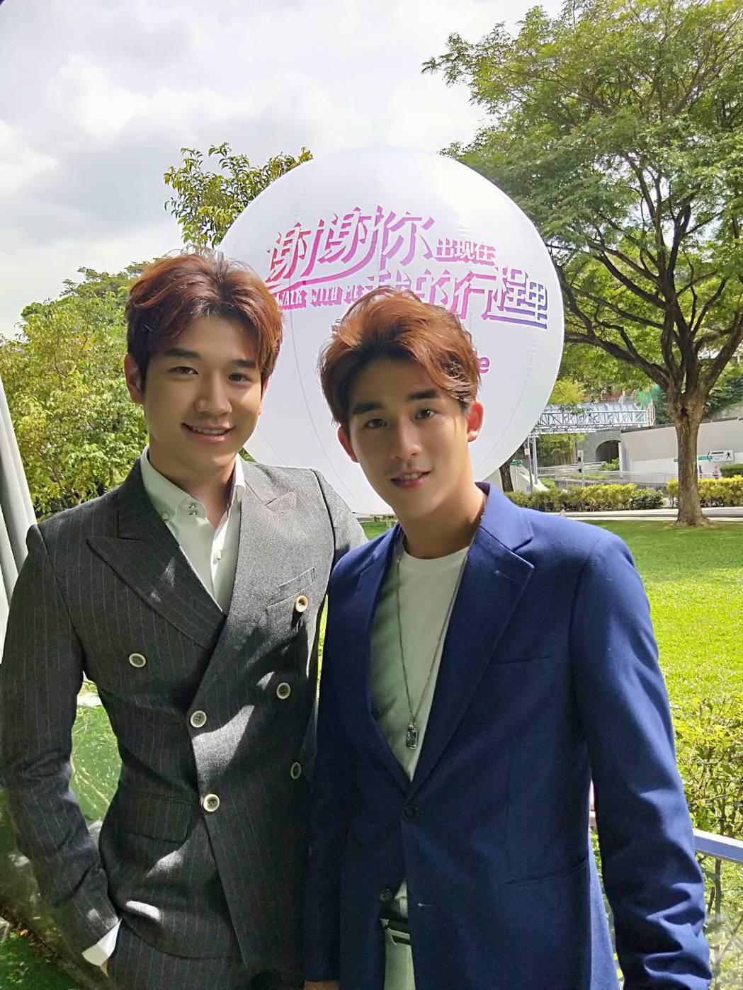 李博翔(右)因和大陸男星姚偉濤到新加坡拍戲,相處3個多月變好友。圖/金熙國際提供