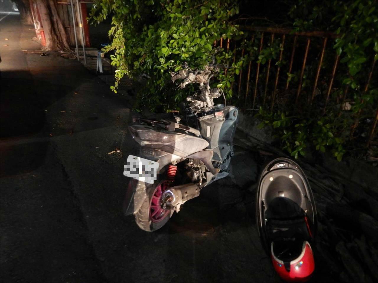台中市清水區昨晚發生救護車和機車擦撞車禍,騎士重傷。記者游振昇/翻攝