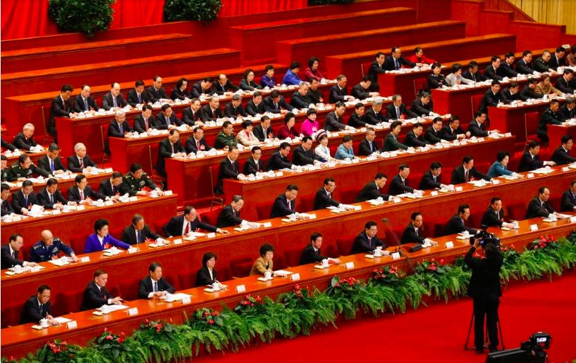圖為第十二屆全國人民代表大會第五次會議在北京人民大會堂閉幕。圖/中新社