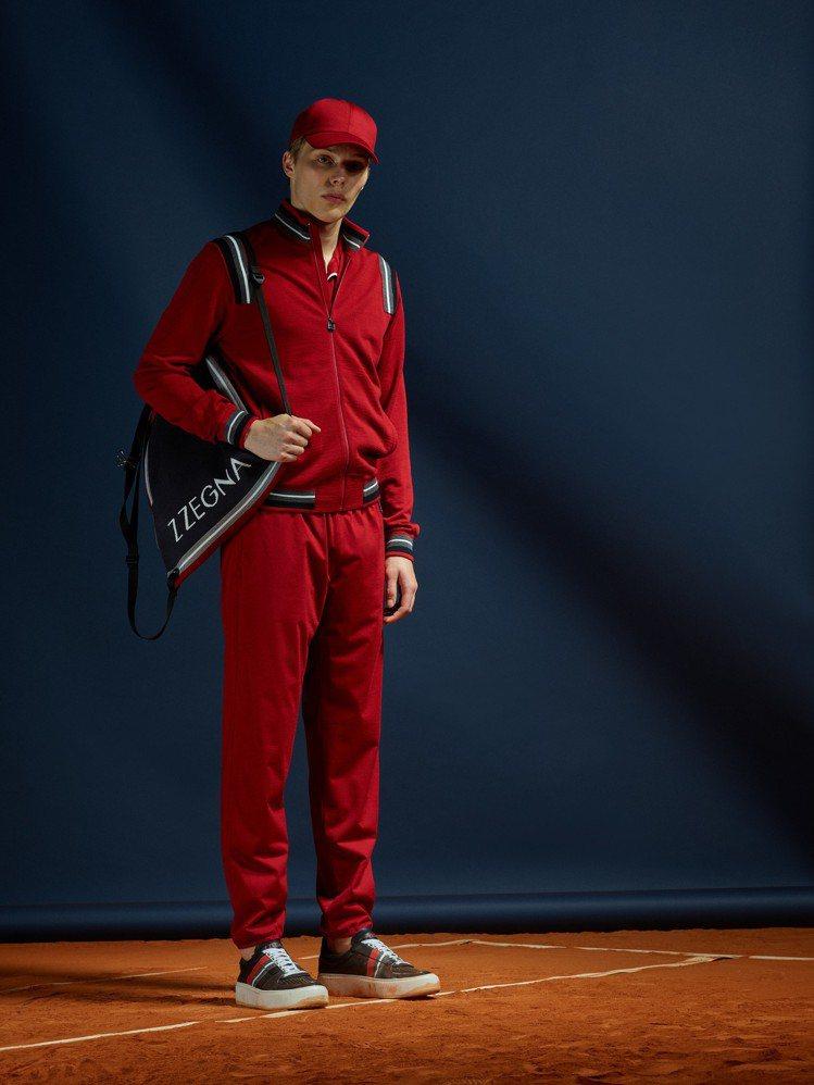 向歷史網球場致敬,Z Zegna的春夏系列兼顧了優雅與網球元素。圖/Zegna提...