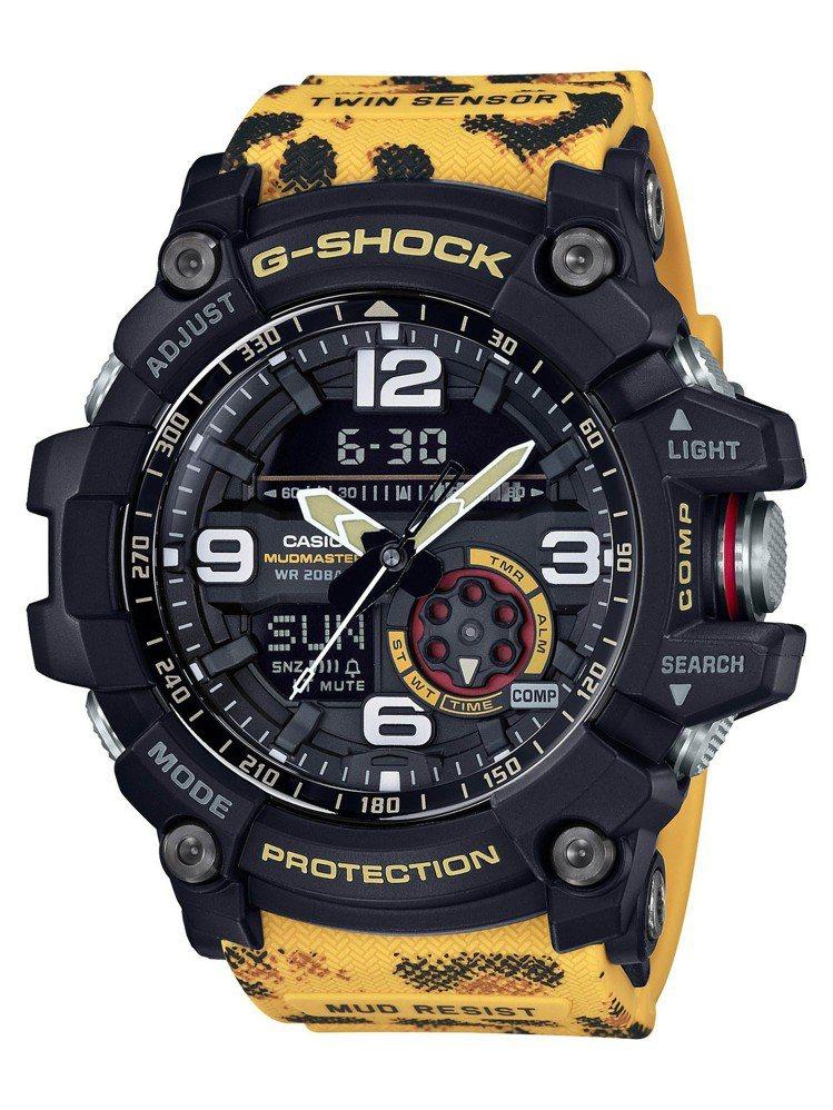 GG-1000WLP腕表,外觀設計從花豹獲得啟發,10,500元。圖/Casio...
