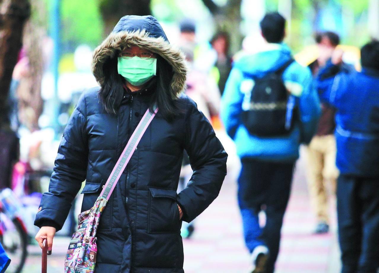 冷氣團要來了! 周四北台灣下探12度。聯合報系資料照