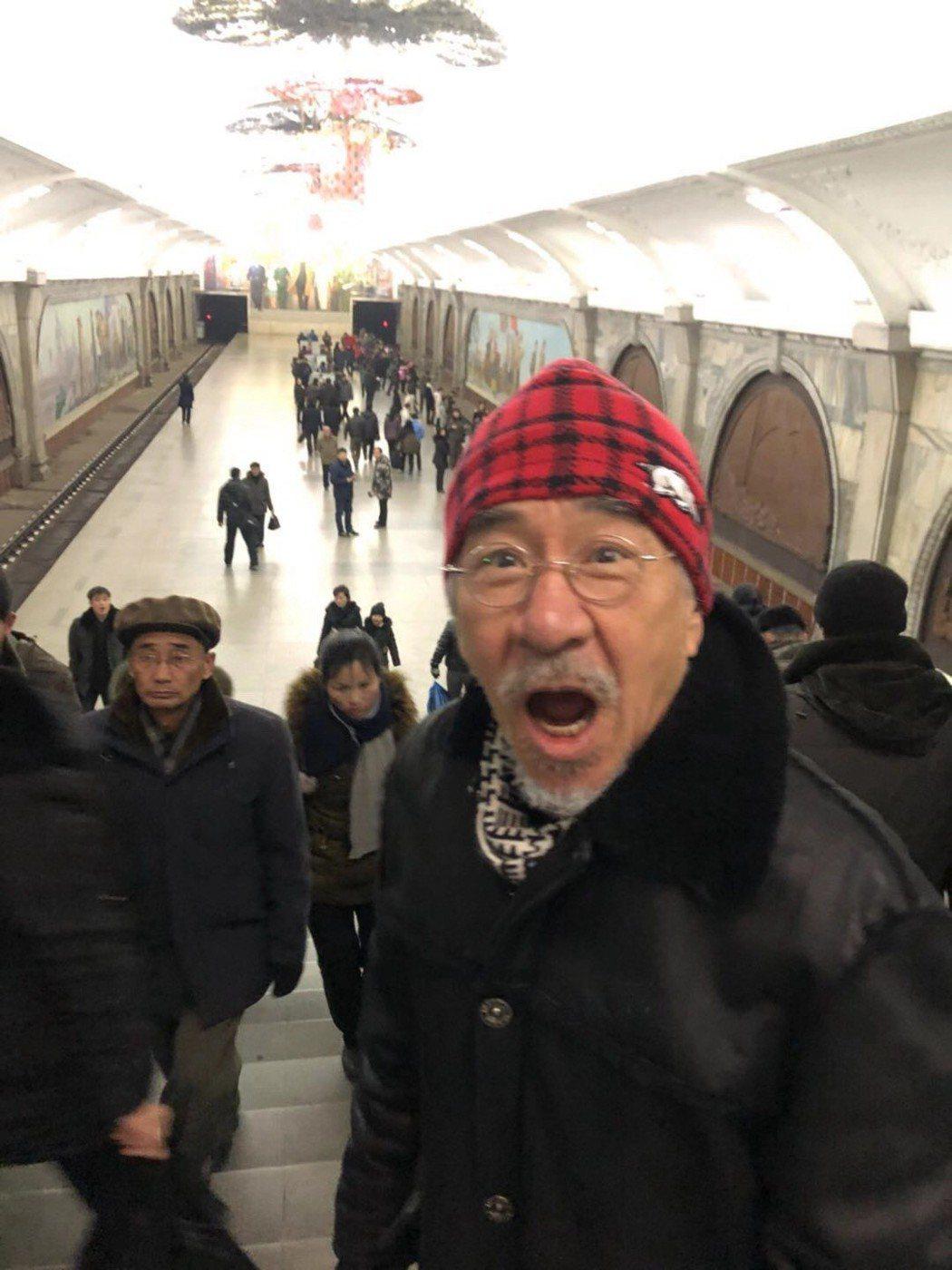 孫情到北韓平壤搭地鐵。圖/瑞奇娛樂傳播提供