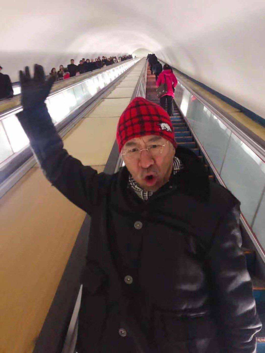 孫情在平壤搭地鐵。圖/瑞奇娛樂傳播提供