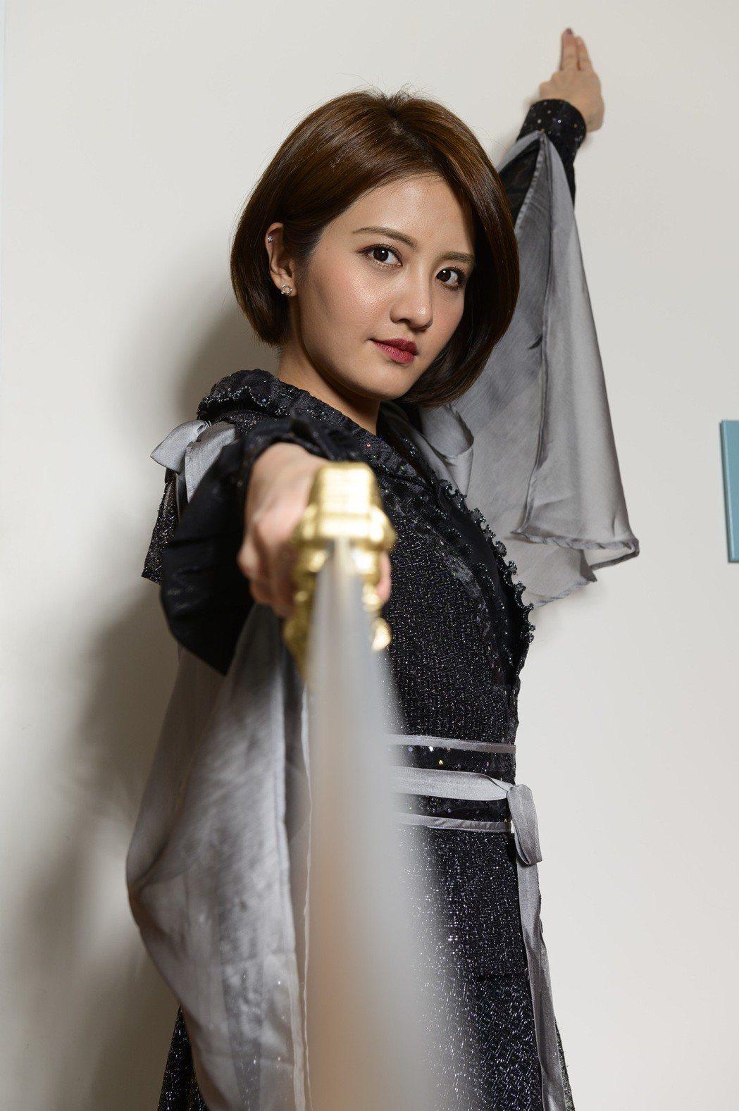 李宣榕扮演俠女聶隱娘。圖/TVBS提供