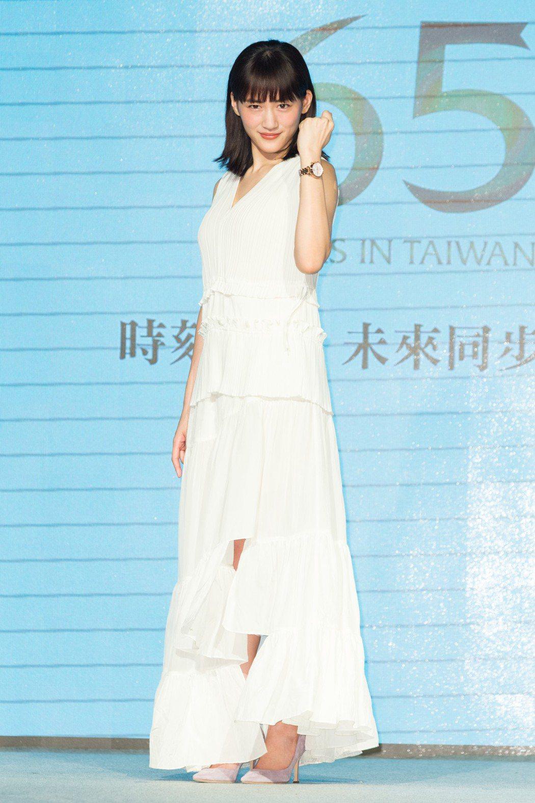 精工錶歡慶來台銷售65週年,邀請日本女星綾瀨遙代言。陳立凱/攝影