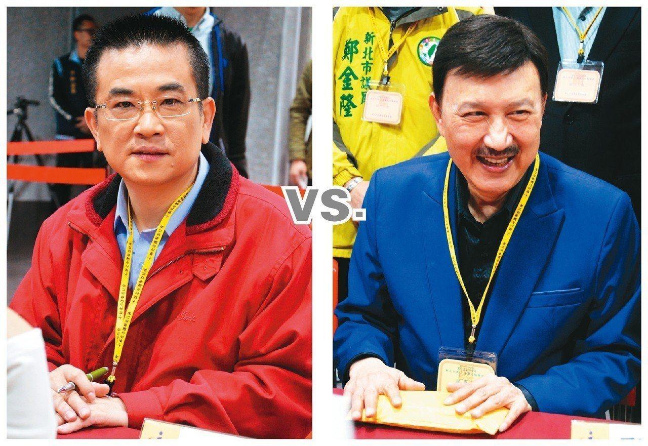 國民黨參選人鄭世維(左圖)、民進黨參選人余天(右圖)。 聯合報系資料照片