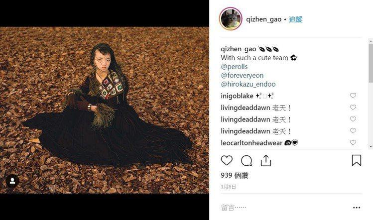 來自上海的模特兒高其蓁。圖/取自qizhen_gao的IG