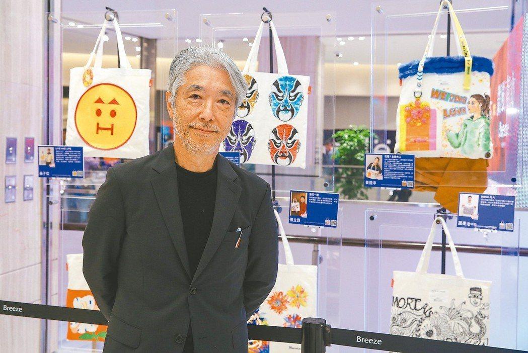 名人手繪包公益慈善義賣展開展,圖為ROOTOTE JAPAN社長神谷敬久。 圖/...