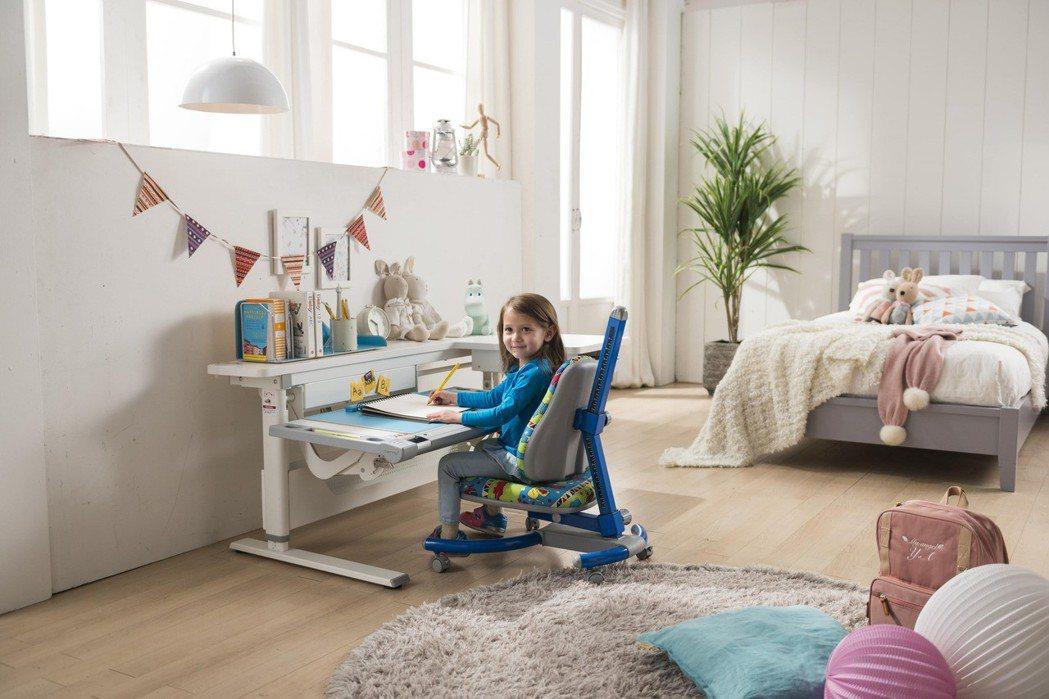 歐德傢俱首度與康樸樂聯名,推出成長書桌椅,可幫助身體達到正確坐姿,避免駝背、近視...