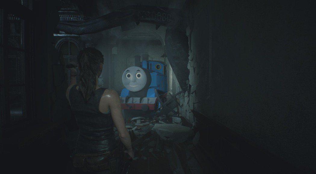 「湯瑪士小火車暴君模組」比起原始暴君來得更恐怖。