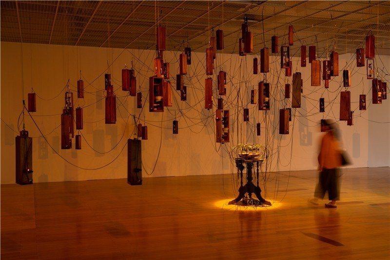 蕭聖健作品,〈歸〉。 圖/取自2018台北雙年展官網