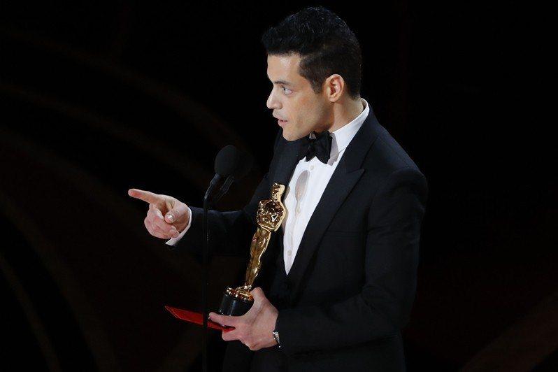 雷米馬利克,以皇后樂團主唱佛萊迪墨裘瑞一角奪得奧斯卡最佳男主角。 圖/路透社