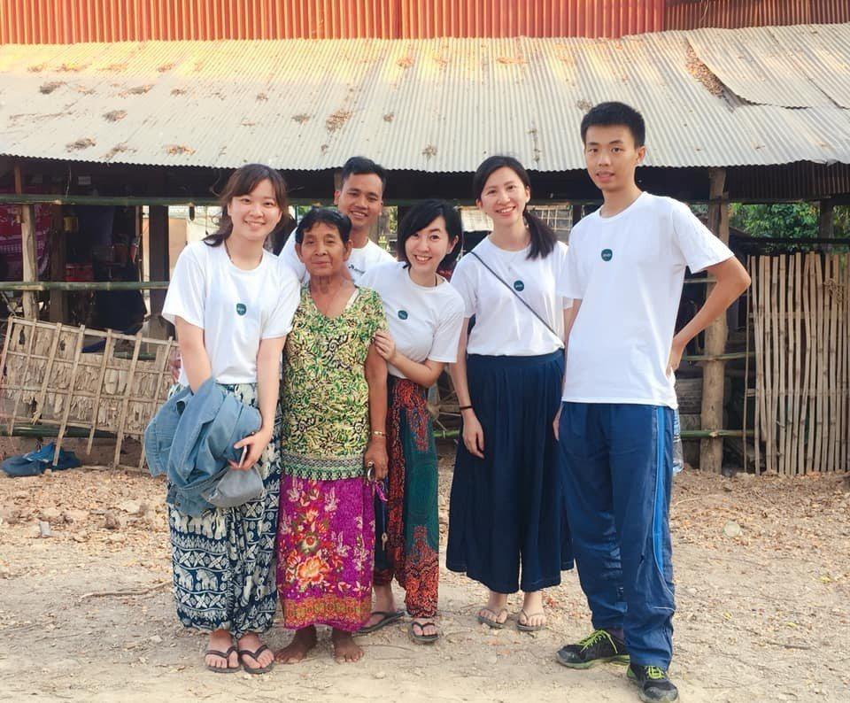 ZAZA負責家庭訪問的柬台團隊成員。圖/張維提供