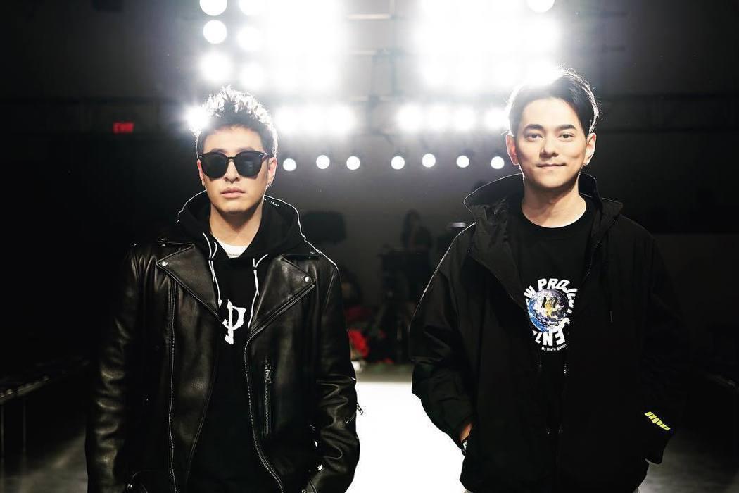 潘瑋柏與大陸男主持人李晨合夥做潮牌。圖/擷自IG