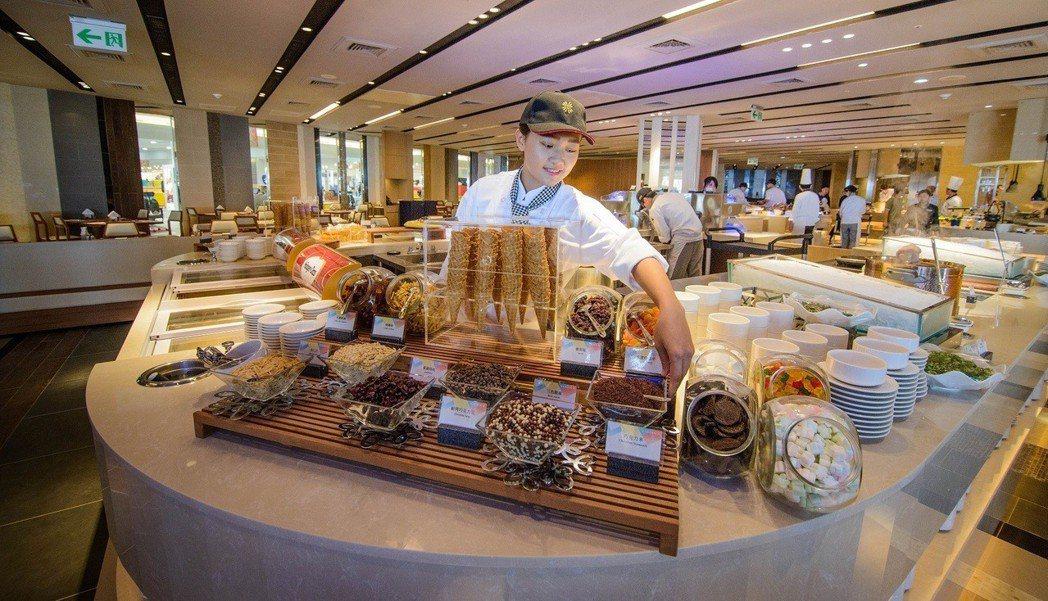 首創以「集合主題餐廳」規格,打造五星級自助餐廳,每一個餐檯區,相當於一家主題餐廳...