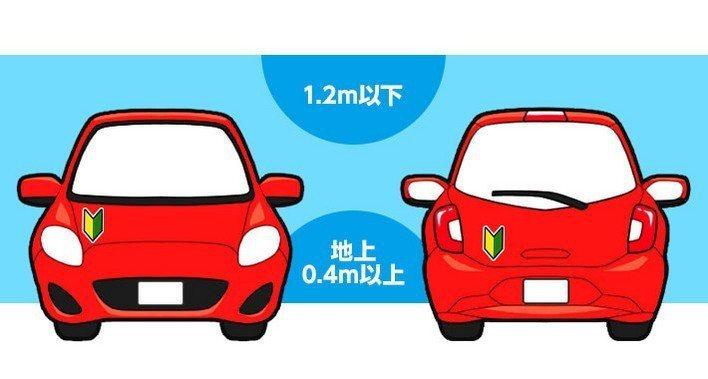 日本規定新手駕駛需貼上幸運草貼紙,以提醒周遭用路人。 圖/取自autoc-one