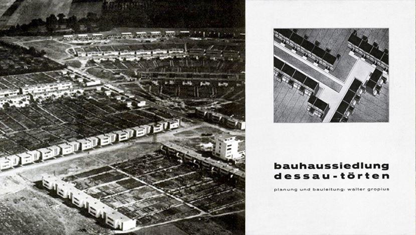 格羅佩斯受德劭市政府的委託,設計了大型的社會住宅群落(Bauhaussiedlu...