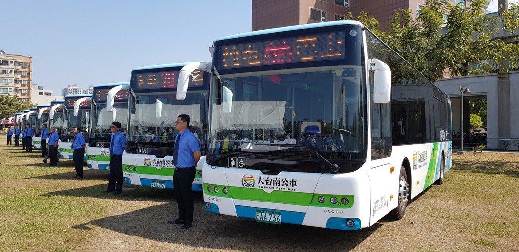 台南山手線電動公車已經啟用。記者修瑞瑩/攝影