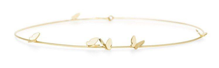 AHKAH Papillon Brillant系列頸圈,黃K金,約64,400元...